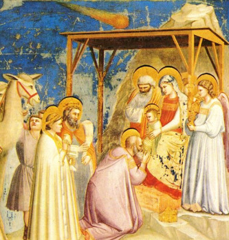 Fresco of a Nativity Scene