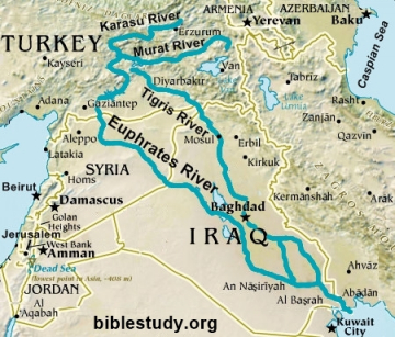 Tigris And Euphrates River Map Euphrates River Map