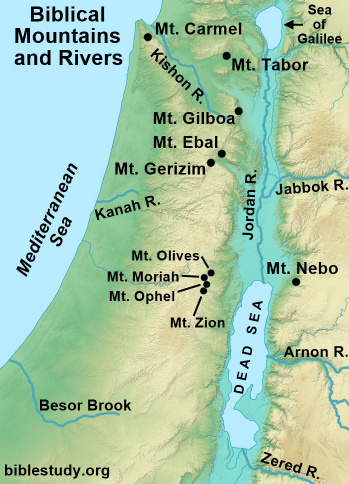 Biblical Mountains and Rivers Map