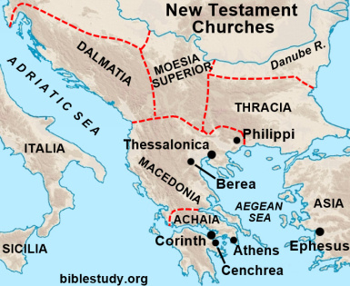 Athens, Berea, Cenchrea - New Testament Churches