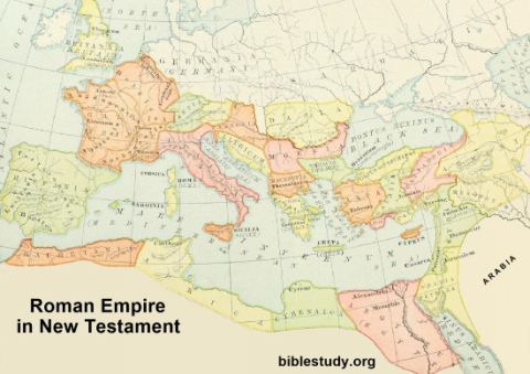 Map of Roman Empire in New Testament