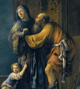 Abraão implora a Sara por Hagar