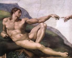 Criação de Adam por Michelangelo