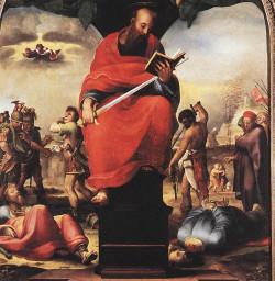 death-of-saint-paul-by-beccafumi Quanto tempo esteve Paulo na prisão?