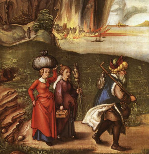 Ló Fugindo com Suas Filhas de Sodoma