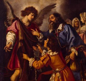 Tobias, Tobias oferecem arcanjo um presente