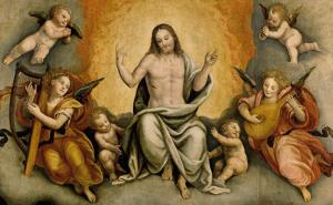 Triunfo de Cristo com Anjos e Querubins